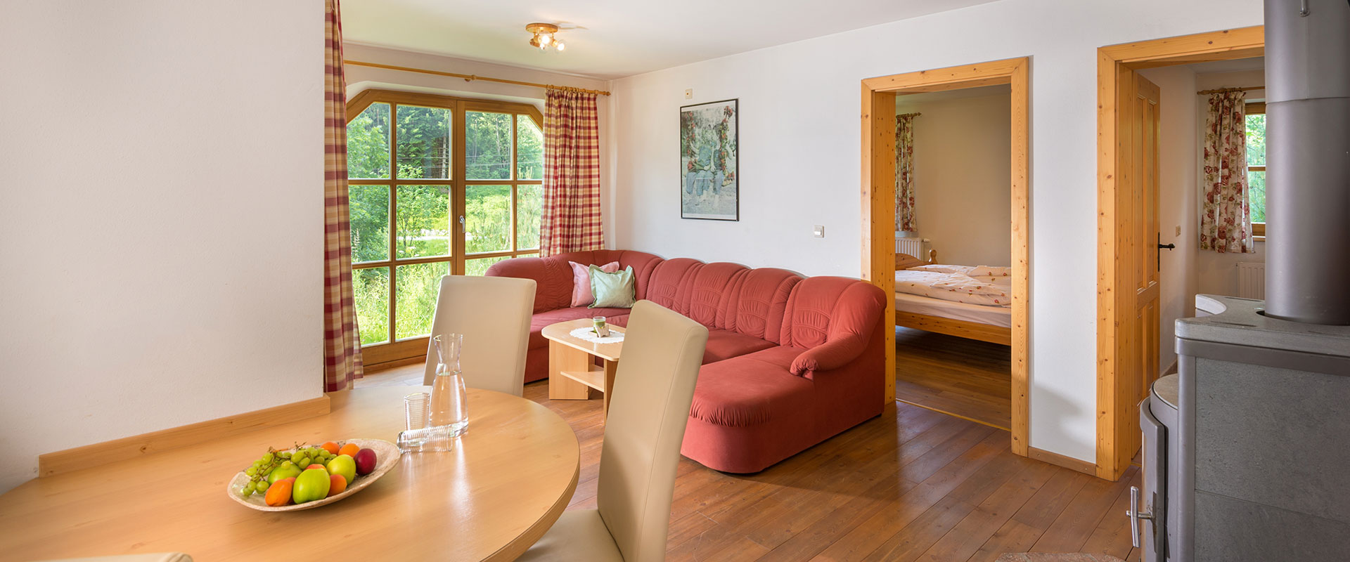 Wohnzimmer - Ferienwohnung Zeisig, Radstadt
