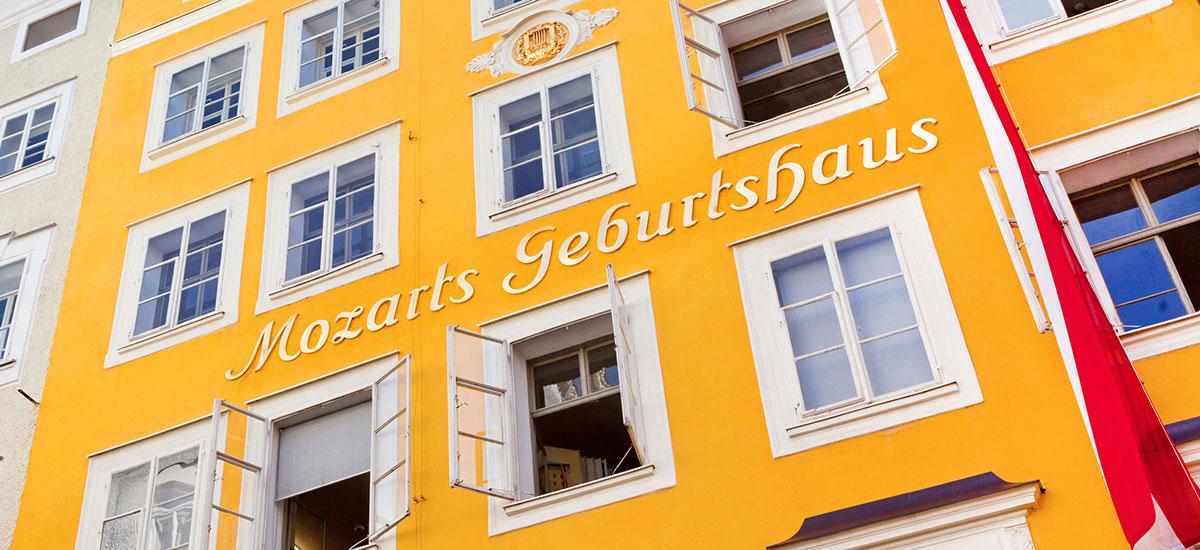 Mozart Geburtshaus - Ausflugsziele im Salzburger Land